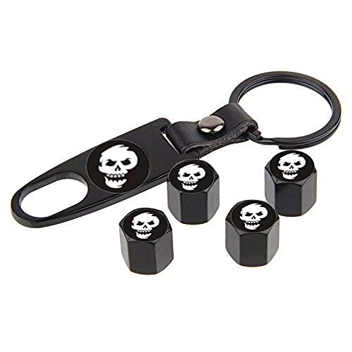 (choolo Smile Skull Tire Air Valve Caps Stem Cover Universal Fits All Cars Trucks SUV Bike & Bicycle Motorcycle & Car Tire Valve Stem Caps)