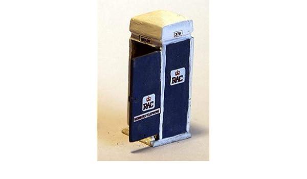 RAC Telephone Box OO Scale 1:76 Metal Model PAINTED F205ap Langley Models