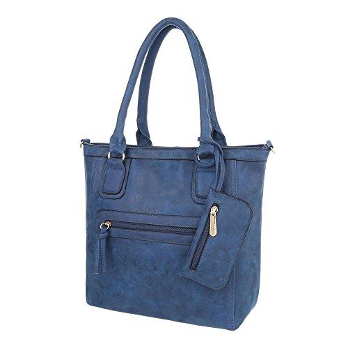 Taschen Used Optik Mit Extra Tasche Blau