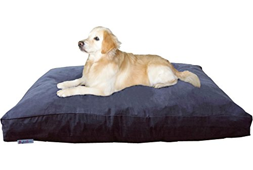 Dogbed4less Jumbo Extra Large Memory Foam Dog Bed Pillow with Waterproof Liner and Microsuede Cover for Big Dog 55X47 Inches, Espresso by Dogbed4less