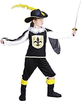 Magic Box Disfraz de niño de mosqueteros Negro Small (3-5yrs ...