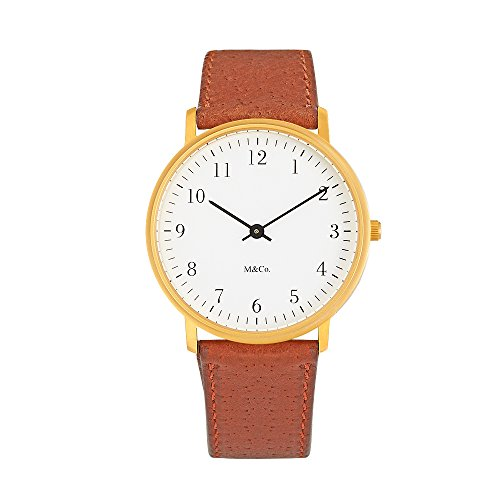 Projects Watch M&Co Bodoni Brass 7401BR-BR for sale  Delivered anywhere in USA