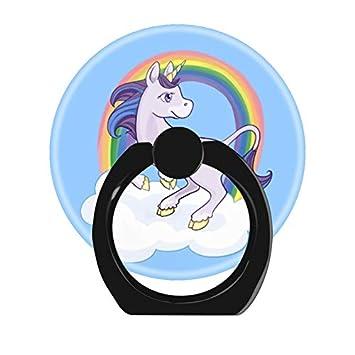 PopeS holder Soporte para Anillo de Dedo para teléfono móvil, Funciona para Smartphones y tabletas, diseño de Unicornio Arco Iris mágico: Amazon.es: ...
