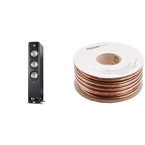 Best Price! Polk Audio Signature Series S60 Floor Standing Speaker (Pair) with Amazon Basics 14 Gaug...