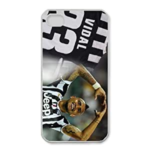 Arturo Vidal For iPhone 4,4S Cases Cell phone Case Svgn Plastic Durable Cover