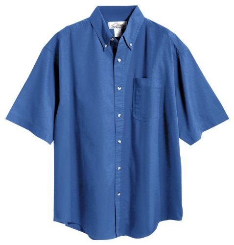Tri-mountain Mens 60/40 stain resistant short sleeve twill shirt. 768 - FRENCH ()