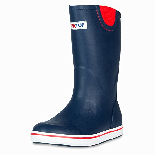 XTRATUF Performance Series 12'' Men's Full Rubber Deck Boots, Navy & Red (22732) by Xtratuf (Image #8)