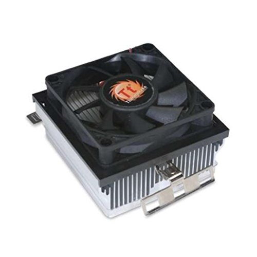 Thermaltake AMD Socket FM2 / FM1 / AM3 / AM2 / 1207 / 940 / 939 / 754 3-Pin Connector CPU Cooler With Aluminum Heatsink & 3.14-Inch Fan With TronStore Thermal Paste For Desktop PC Computer (TS36)