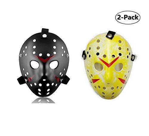 Ru S 2 Pieces Costume Mask Halloween Costume Cosplay Hockey -