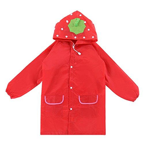 Larcele Kids Raincoat Jacket Children Rain Slicker with Hooded KTYY-01