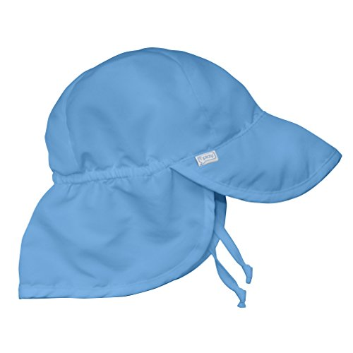 (i play. Baby Flap Sun Protection Swim Hat, Light Blue, 0-6 Months )