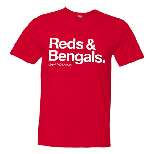 Mens/Unisex Loyal Reds Bengals Baseball Football Ohio Tee Red-XXL