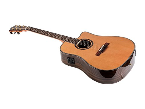 Monoprice Idyllwild Cedar Solid Top Acoustic Electric Guitar with Fishman Pickup Tuner and Gig Bag (Cedar Solid Top)