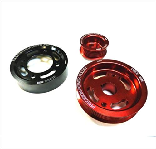 OBX Red Overdrive Power Pulley Kit 00-05 Toyota Celica GT-S and 03-06 Toyota Matrix XRS 2ZZ-GE ONLY 3Pcs