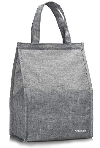 - Lunch Bag, VAGREEZ Insulated Lunch Bag Large Waterproof Adult Lunch Tote Bag For Men or Women (Grey)