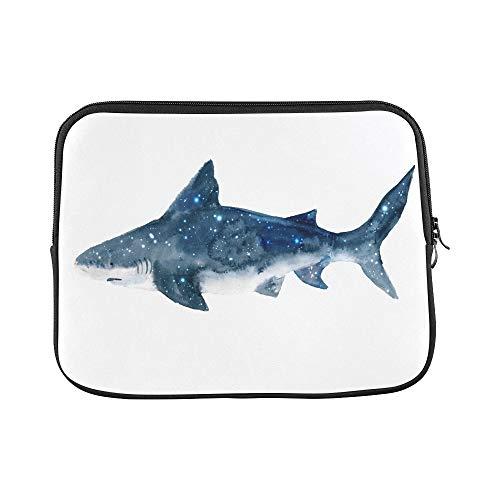Design Custom Shark Starry Sky Isolated On Sleeve Soft Laptop Case Bag Pouch Skin for Air 11