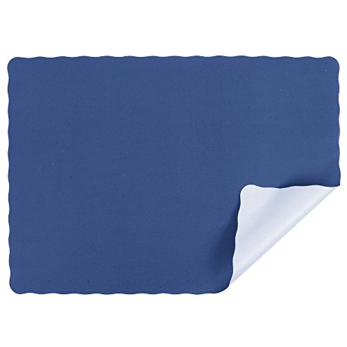 Navy Blue Colored Paper Placemat with Scalloped Edge - 1000/Case Size: 10