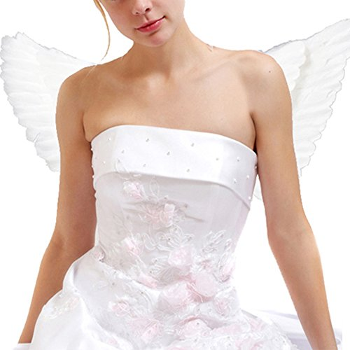 Beautiful Adult Angel Feather Wings white Halloween Costume (Angel Costumes Uk)