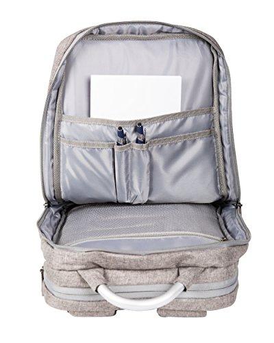 PEARTH Business-Rucksack Urban Line Paket Powerbank und GPS-Finder 22 L Dusty Grey Grau G-GPS-PB Grau