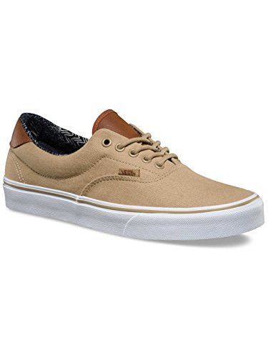 63f901db0e Galleon - Vans Unisex Era 59 (C L) Khaki Material Mix Skate Shoe 6.5 Men  US 8 Women US