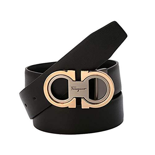 Men's Fashion Comfort Genuine Leather Belt Adjustable Buckle ()