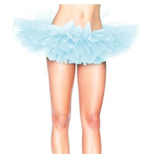 Mujeres Princesa Falda Multi-capa Puff Bubble falda Tutu Underskirts azul claro