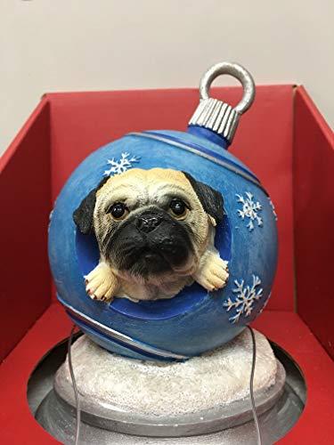 Ciao Ciao Pet Collection Pug Dog Christmas Ball Mantle Stocking Holder Snowflakes ()