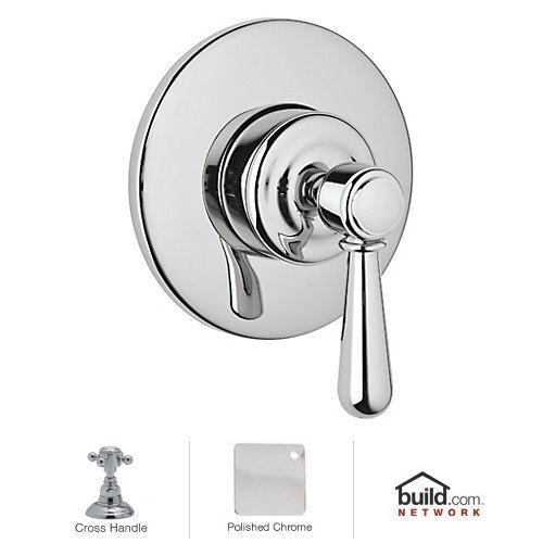 (Rohl A3770XMAPCTO Kit Trim Package for Country Bath Verona Four Port Three Direction Diverter Trim Only with Cross Handle and Sleeve in Polished Chrome)