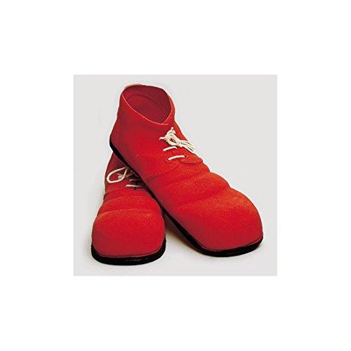 Zapatos payaso pequeños amarillos.