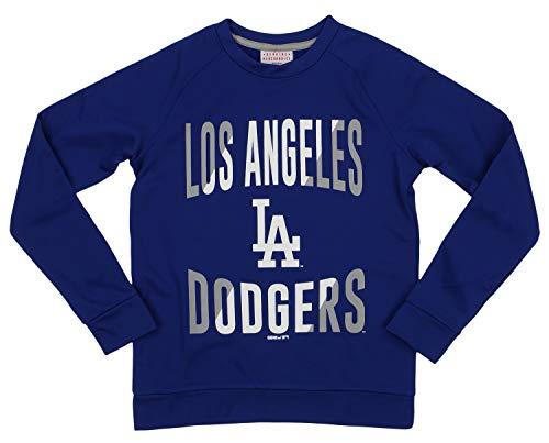 Outerstuff MLB Dodgers Boys 8-20 Performance Fleece Crew Neck LS TOP 8-S ()