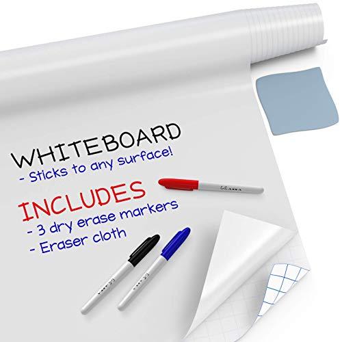 40 x 30 cm Drywipe Whiteboard mit 2 Markierungsstiften 3 Magneten Schule Whiteboard f/ür Zuhause DOEWORKS Magnetisches Whiteboard B/üro