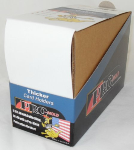 Pro-Mold Thicker Card Holders One Screw Screwdowns (PC6 II) Up to 50 Pt. Box of ()