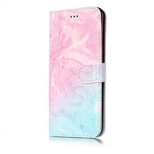 Samsung Galaxy S8 Plus PU Cuero Funda, Vandot 3D Bling Rhinestones Mariposa Shell TPU Inner Bumper Case Funda con Billetera Tapa Holster Cierre Magnético Tarjeta Ranura Carcasa Teléfono Concha Bolsa C Marble PT 03