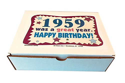 Woodstock Candy 1959 59th Birthday Gift Box - Retro Nostalgic Candy Mix for 59-Year-Old Man or Woman Jr.