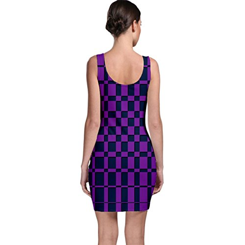 Pattern Dress Blue Bodycon Purple CowCow Geometric wBZYYx