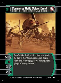 STAR WARS TCG SITH RISING COMMERCE GUILD SPIDER DROID 69C