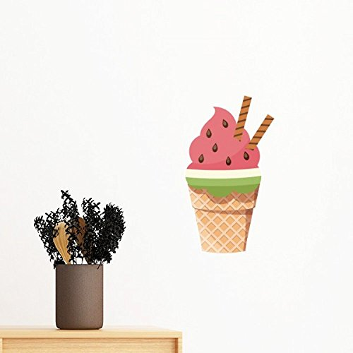 Biscuits Watermelon Cones Ice Cream Removable Wall Sticker Mural DIY Wallpaper Vinyl Room Home Decal Decor ()