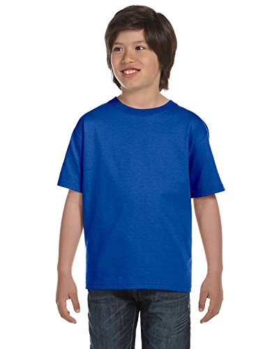 Gildan 50-50 Youth Short-Sleeve T-shirt (8000B) Tee Medium Royal