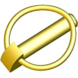 "Innovative Components AP1/4X1-7/16-22 Lynch Pin, 1/4"" diameter X 1-7/16 "" grip length, Steel Zinc Yellow (Pack of 10)"