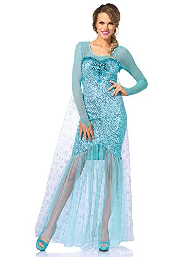 Leg Avenue Women's Fantasy Snow Queen Elsa Costume, Aqua, Medium