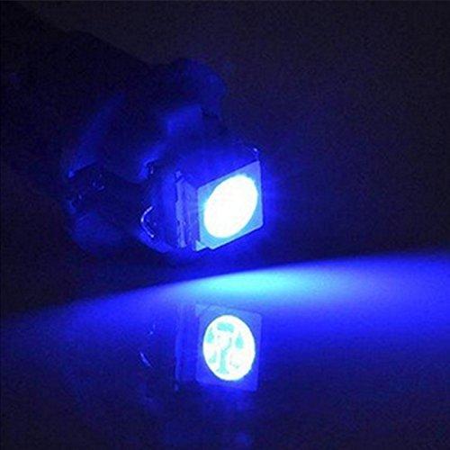 WLJH 6 unidades azul T5 73 74 5050SMD LED Cu/ña l/ámpara bombilla instrumento Panel Dashboard Gauge