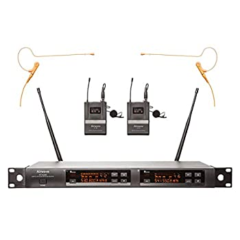 Image of Airwave Technologies Wireless Microphone System (AT-4220-TITANIUM HSD PAK) Wireless Headset Microphones