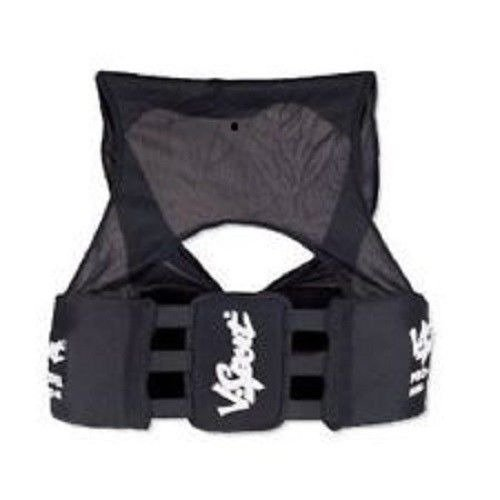 (New VKM Football Lacrosse Rugby RIB Vest Pads Protect Spine & Kidney Adult S-XXL (AS))