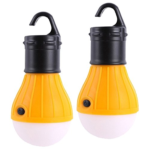 - Raking Outdoor Camping Lamp tent Portable Led Lantern Tent Light Hiking Emergency Yellow Bulb for kids children play tent Playhouse Night Lighting 3 mode adjustable ABS Material 2 packs