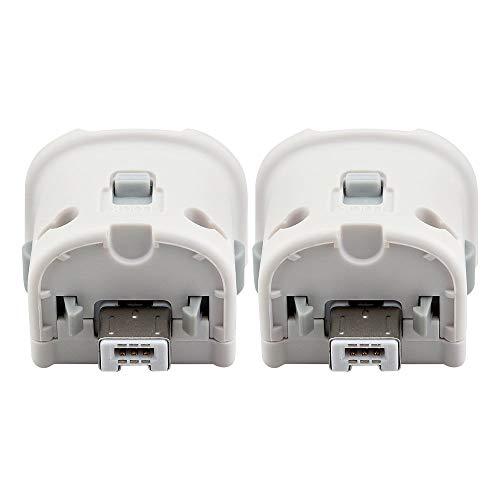 (Maliralt Wii Motion Plus Adapter - 2 Pack, LP07 External Motion Plus Sensor Accelerator Adapter for Nintendo Wii/Wii U Remote Controller - Black, 2pcs)