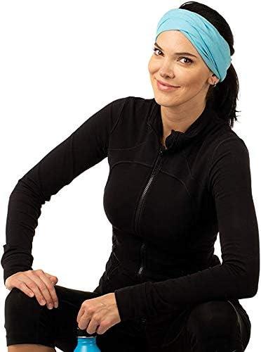 Multifunctional Headwear,Stretchable Headbands ,Headband Bandana Mask Neck Gaiter Headwrap Sweatband Shield for Face GUGELIVES 9Pack Bandanas
