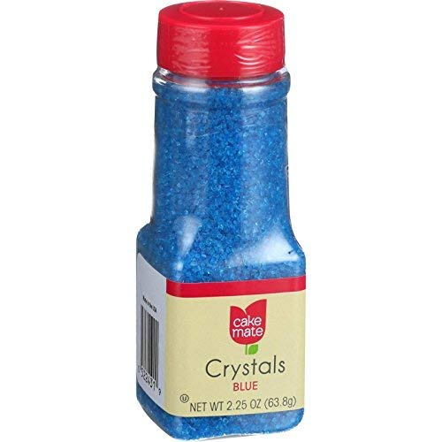 (Cake Mate Blue Crystal Decors, 2.25)
