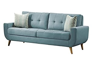 Homelegance deryn mid century modern sofa with for Amazon mid century modern furniture