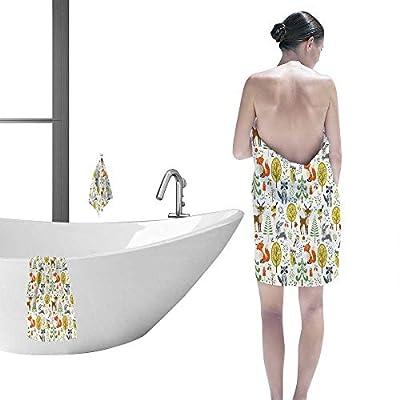 Printsonne Customized Sports Towel Set Forest Animal Crafts for Kids Modern Hand Towels Set