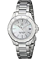 TAG Heuer Womens WAY1312.BA0915 Aquaracer Analog Display Quartz Silver Watch